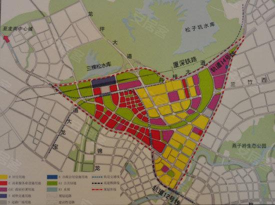 深圳市坪山新区规划图 坪山新区最新的规划图 坪山新区规划图