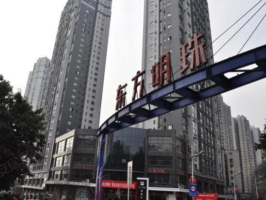 高层建筑,一栋多层建筑.项目集高层住宅、裙楼为2.2万商业街高清图片