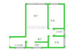 《大林》东方广场中装两室+1400/月拎包入住+看房方便