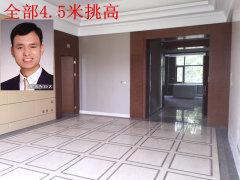 首层客厅挑高4.5米,全新三居室,首次出租,带40多平花园