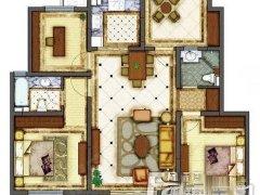 万科金色水岸三期4室2厅2卫统一装修房东自住首租专做小区