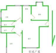 绿地塞尚公馆两居包暖包物业楼层居中看房约