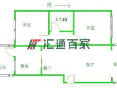 汇通百家此房是空房 两室一厅 低楼层