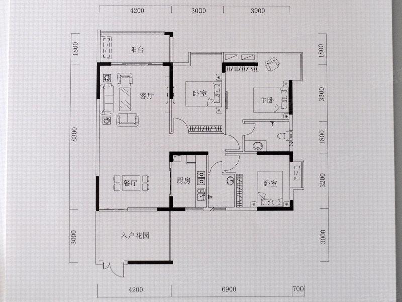 4.2米客厅 入户花园 首郡127平米精装样板房 组图高清图片