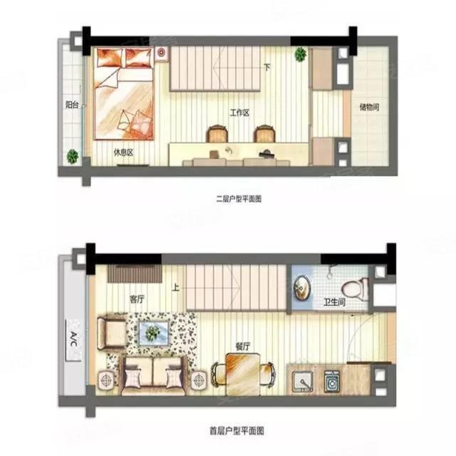 25㎡loft公寓平面图-小司机发车带你看复式 住宅公寓任你挑