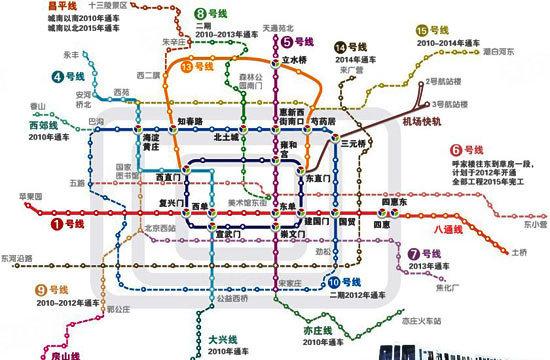 北京未来5年地铁规划图