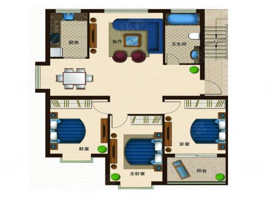 诸城 户型图,三室两厅户型图,别墅户型图_点力图库